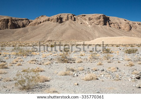 View of the desert in Death Valley, California.