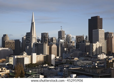 View of the downtown San Francisco skyline