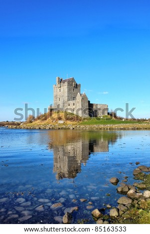 View of the Dunguaire Castle in Kinvara, Ireland. - stock photo