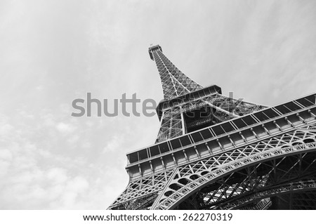 View of the Eiffel Tower, Paris France - stock photo