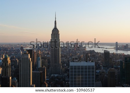 View of the Empire state building in Manhattan