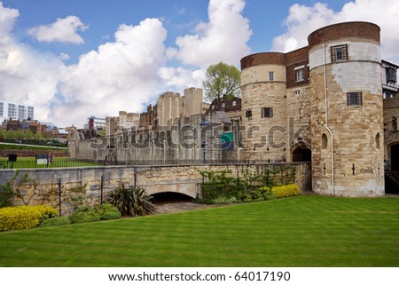 view of the entrance of london castle