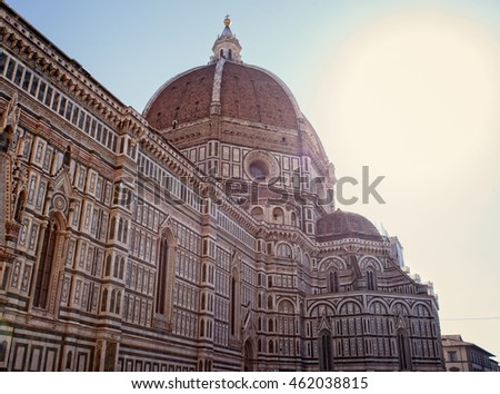 View of the Florence Cathedral fo Santa Maria del Fiore