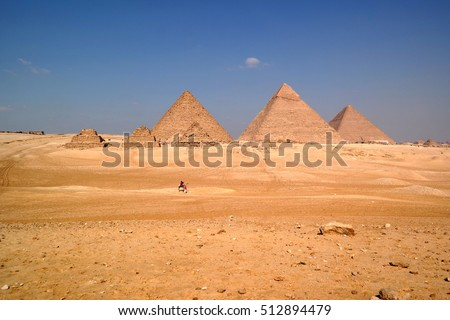 View of the Giza Plateau with Pyramid Complex in the distance