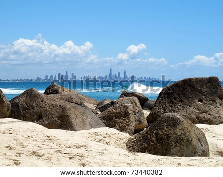 View of the Gold Coast - stock photo