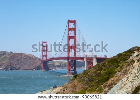 view of the golden gate bridge in San Francisco, California in summer