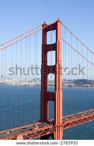 View of the Golden Gate Bridge, San Diego, San Francisco Bay