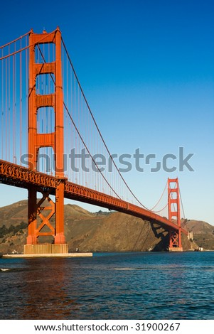 view of the golden gate bridge San Francisco - stock photo