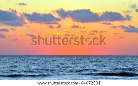 View of the Gulf Coast sea a few moments after sunset. St. Petersburg, Florida - stock photo