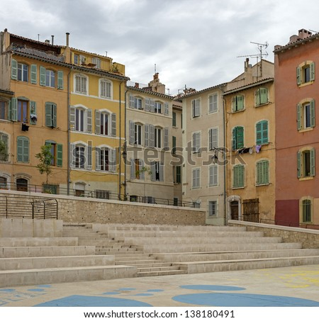 "View of the historic quarter ""Le Panier"" in Marseille in South France"