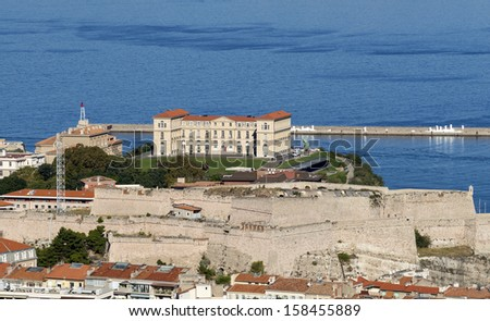 """View of the historic """"Villa Pharo"""" of Marseille in South France - stock photo"""