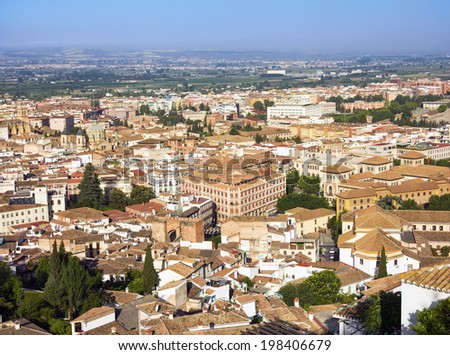 View of the historical center of Valencia - stock photo