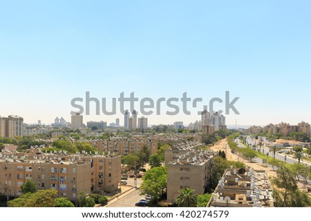 View of the houses in Beersheba - stock photo