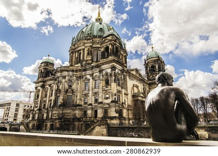 view of the huge Berliner dome in Berlin, Germany - stock photo
