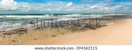 View of the Indian ocean. Panorama - stock photo