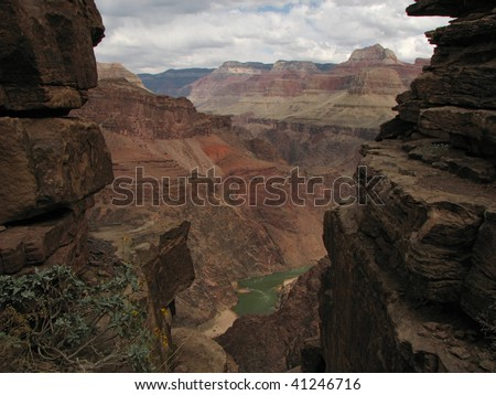 View of the inner gorge of the Grand Canyon
