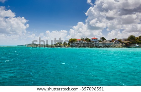 View of the islands of the Caribbean . Antigua