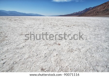 view of the lake of salt in death valley national park, california
