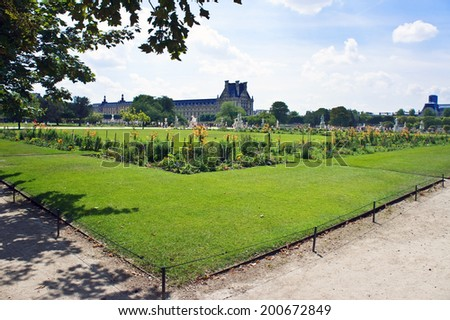 View of the Louvre from the Tuileries Garden, Paris