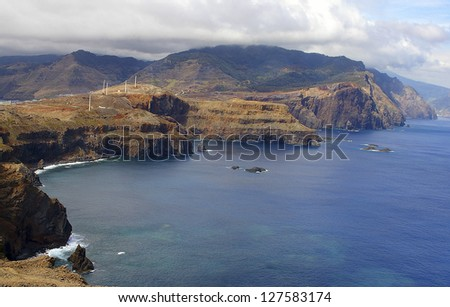 View of  the Madeira island.Ponta de Sao Lourenco.Portugal