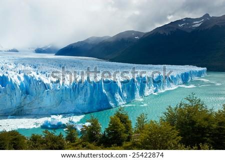 View of the magnificent Perito Moreno glacier, patagonia, Argentina. - stock photo