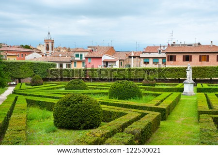 View of the Medieval City of Cetona, Italy - stock photo