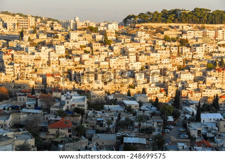 View of the Mount of Olives in Jerusalem, Israel - stock photo