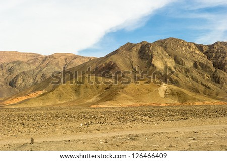 View of the mountains of Peru, South America