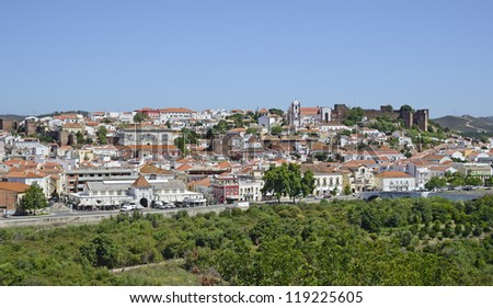 "View of the old city ""Silves"" in South Portugal"