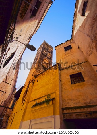 View of the Old Medina in Fes, Morocco, Africa