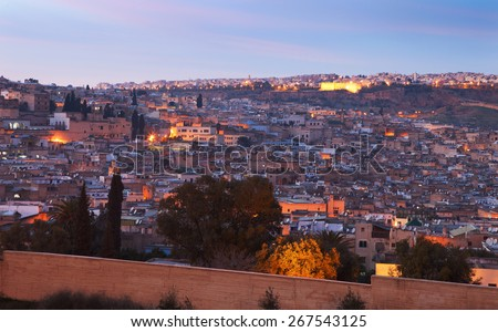 View of the old medina of Fez, Morocco - stock photo