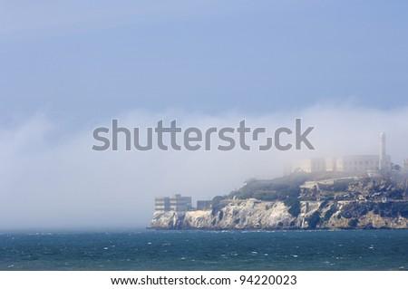 view of the old prison of Alcatraz, San Francisco, California, United States - stock photo