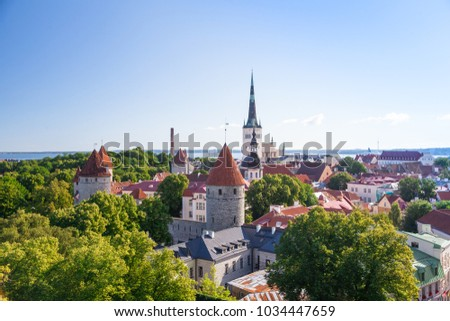 View of the old Tallinn from the observation deck