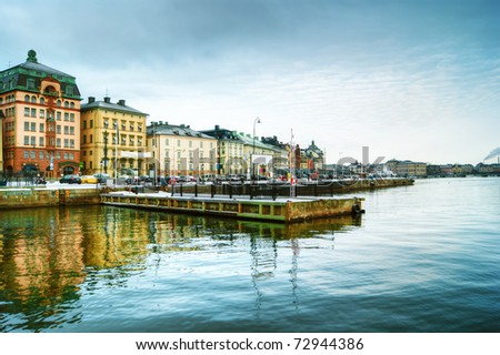 View of the old town in Stockholm, Sweden - stock photo