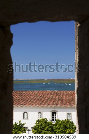 View of the old town of Faro - Capital of Algarve - Portugal, Europe - stock photo