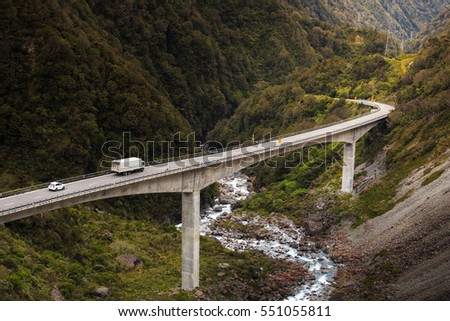 View of the Otira Viaduct, Arthur's Pass, New Zealand