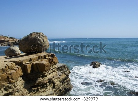 View of the Pacific Ocean from Cabrillo National Monument - stock photo