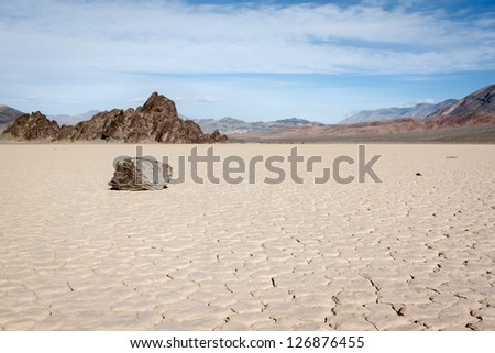 View of the race track, Death valley - stock photo