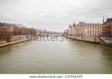 view of the river in Paris