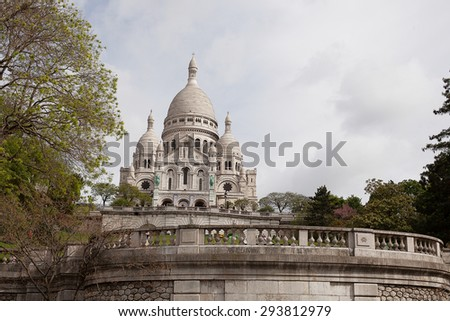 View of the Sacre Coeur (Sacred Heart) church, Paris, France