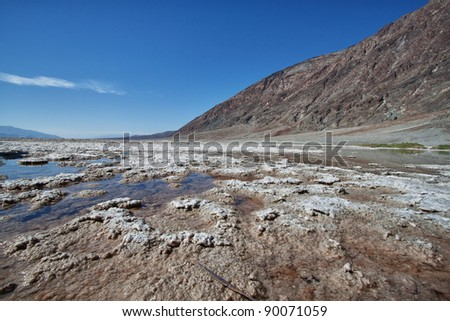 view of the salt lake in death valley national park