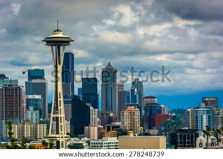 View of the Seattle skyline from Kerry Park, in Seattle, Washington.