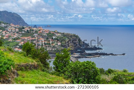 View of the Seixal. Madeira island, Portugal. - stock photo