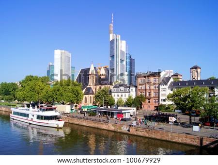 View of the skyline of Frankfurt, Germany - stock photo