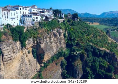 View of the Spanish city of Ronda - stock photo
