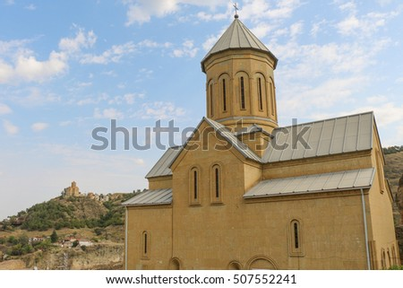 View of the St Nikolas church in Tbilisi