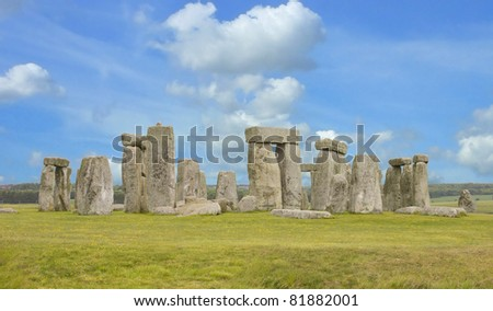 View of the Stonehenge - stock photo