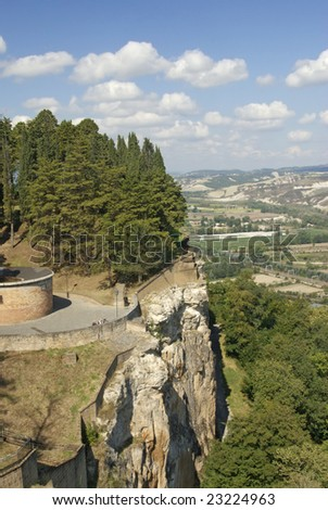 view of the surroundings of Orvieto, Italy - stock photo