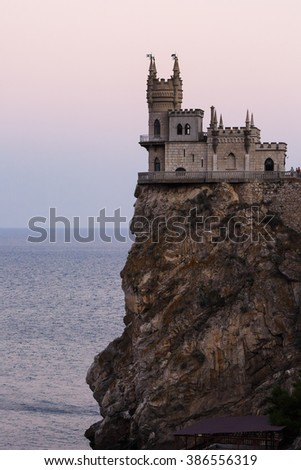 view of the swallow's nest, Yalta, Crimea