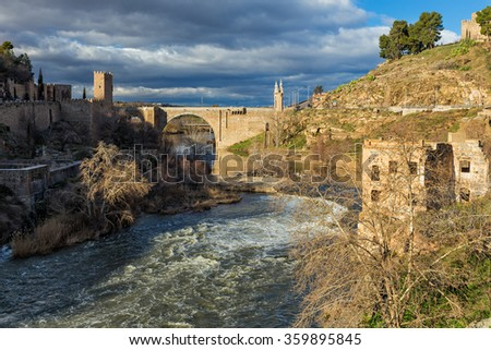 View of the Tagus river in Toledo. Spain.